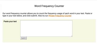 Word Frequency counter
