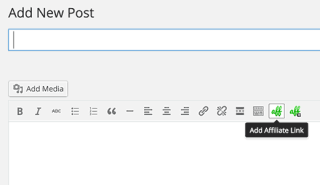 Insert affiliate link in WordPress posts and pages