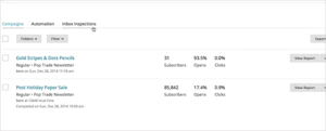 View reports in MailChimp
