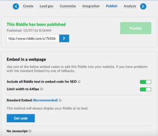 Riddle.com - Published Quiz