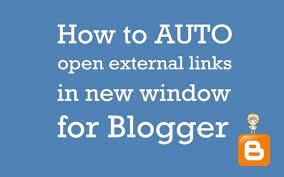auto open link in new window