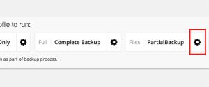 Customize your backup profile