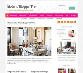 modern blogger template