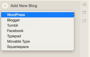 Select Blogging platform