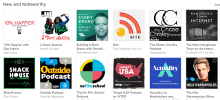iTunes podcasts new & noteworthy