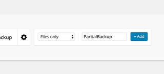 Setup and Add Backup Profile