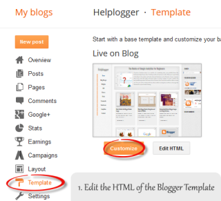 blogger template html