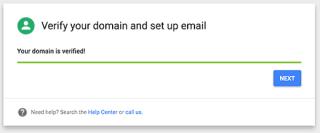 Domain verified