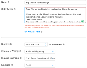requesting an Article