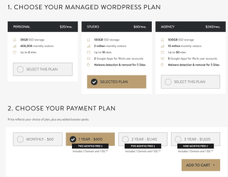 Mediatemple managed WordPress hosting pricing
