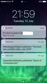 Push notification buffer
