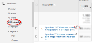 google analytics all referrals