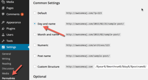 Fixing WordPress permalink