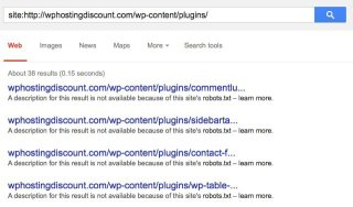WordPress plugins Google hack