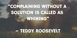 Turn complaints to solutions