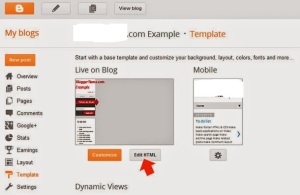 Open Blogger and Blogspot Template Code Editor