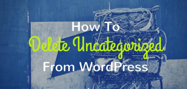 remove uncategorized wordpress